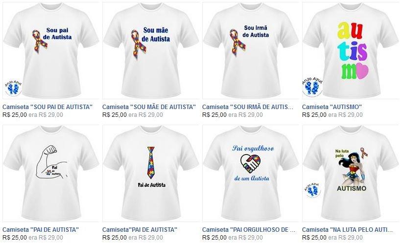 Camisetas para doações